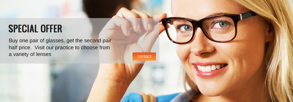 Buy one pair of glasses, get the second pair half price at Optometrists Toowoomba